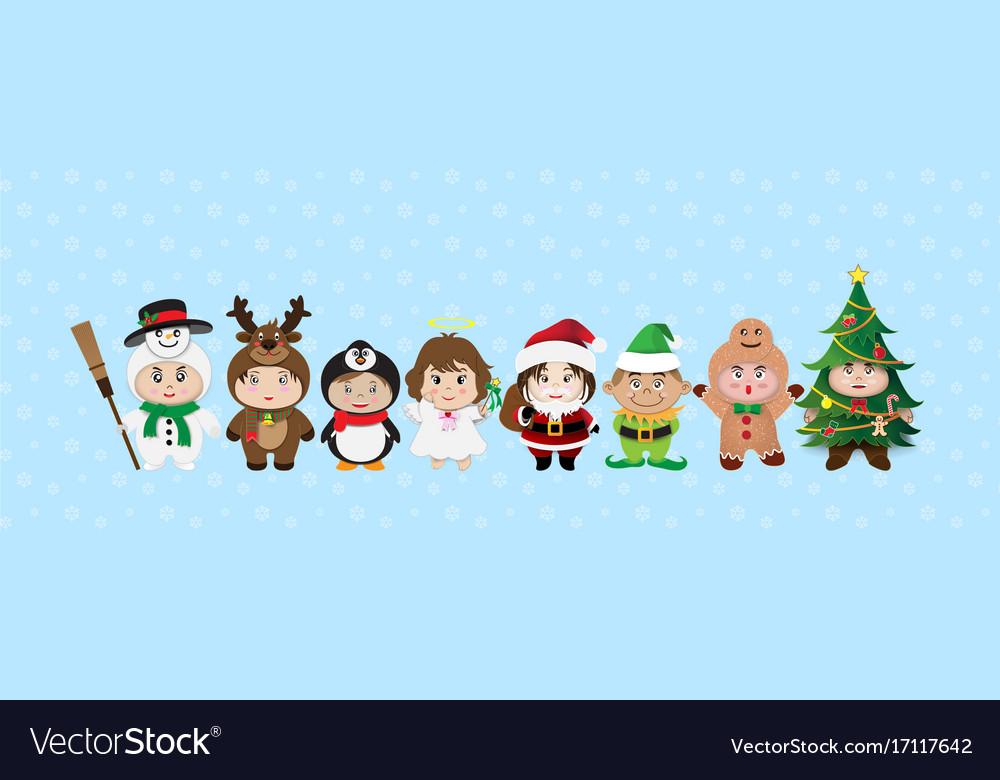Merry christmas cartoon