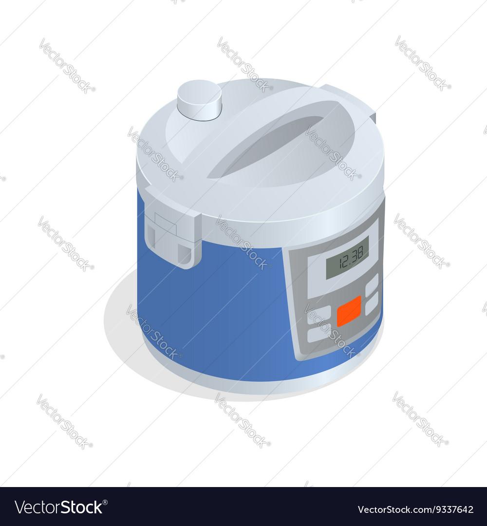 Multi cooker crock-pot multivarka isolated on