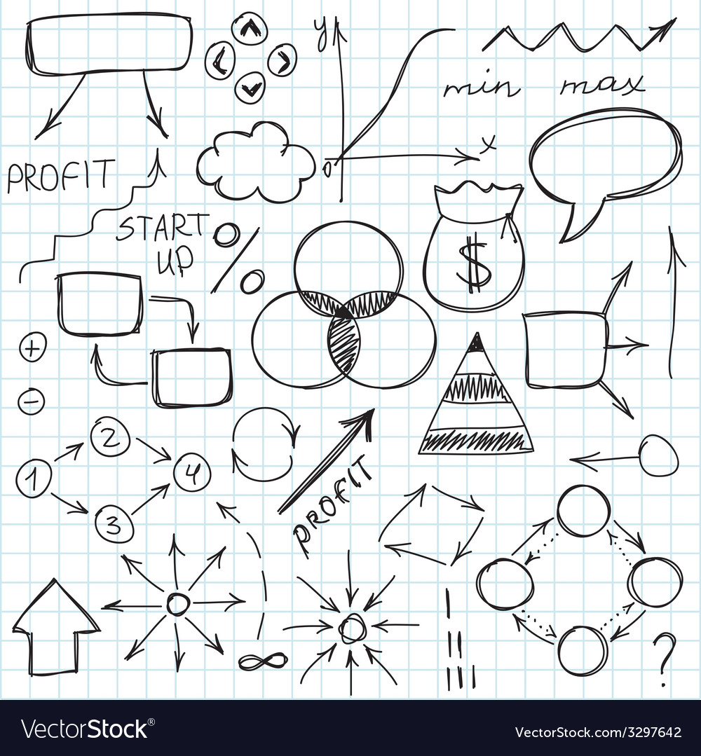 Set Of Simple Hand Drawn Signs And Symbols Vector Image