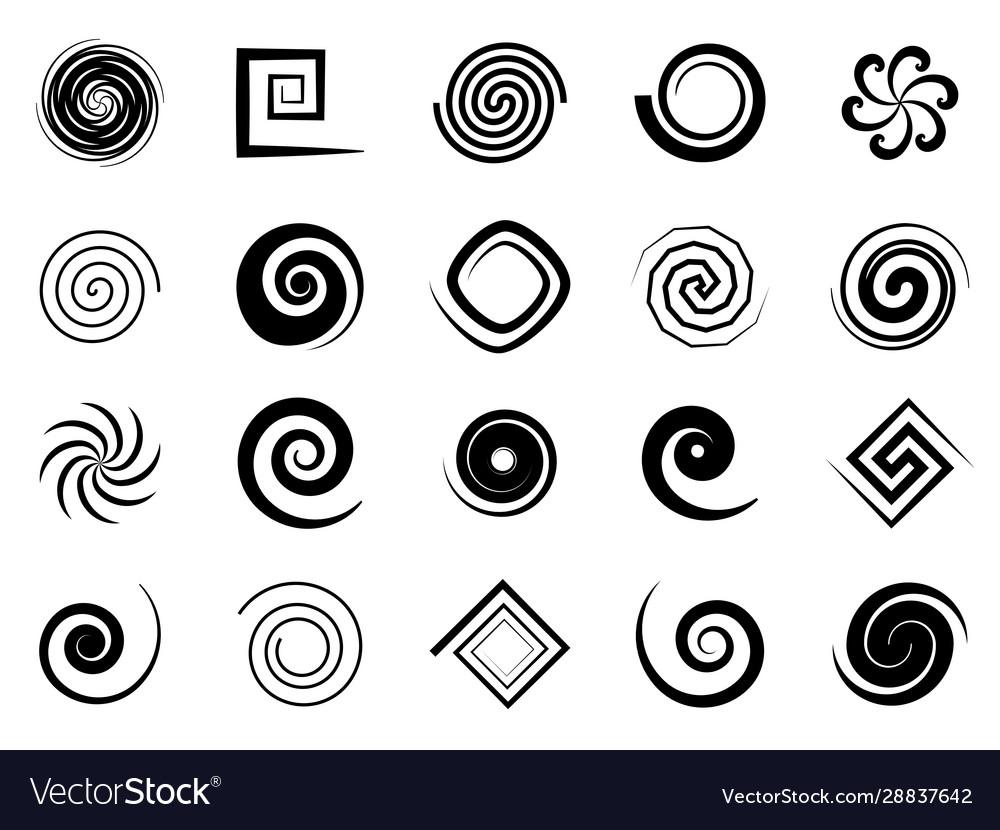 Spiral swirls speed circular symbol twisted
