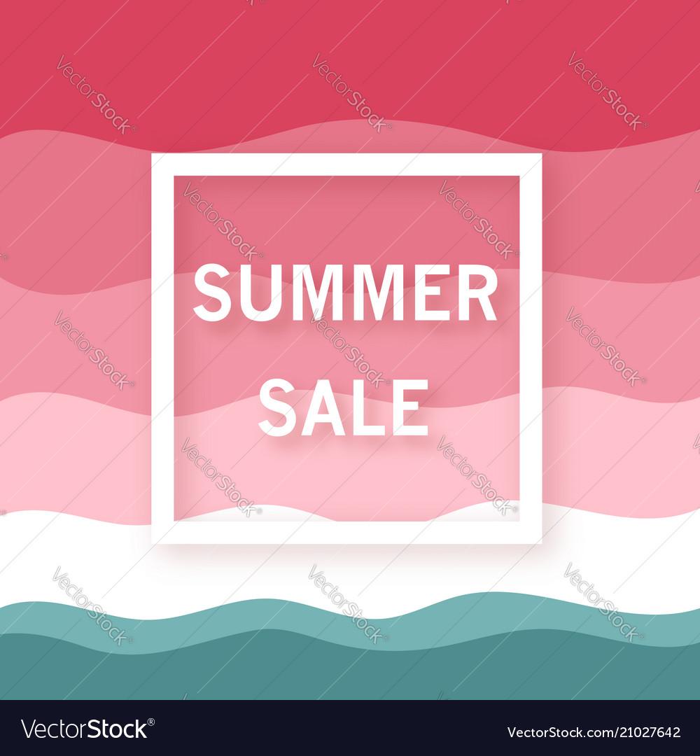 Summer sale banner minimalist summer watermelon vector image