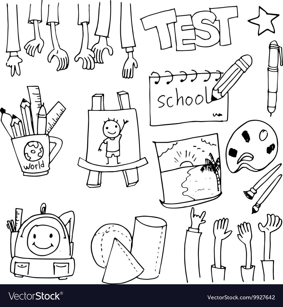 Tools education doodles art