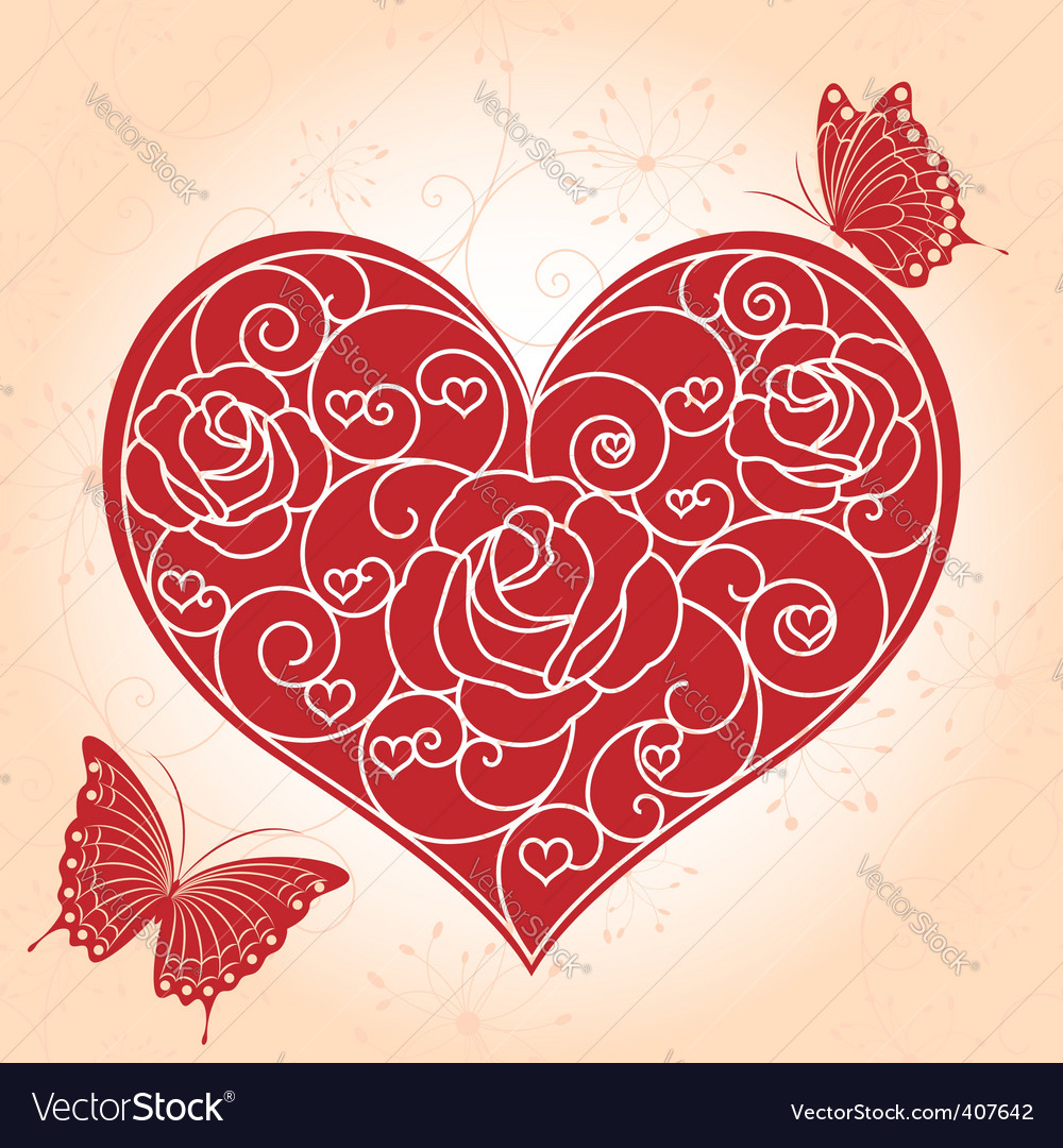 Valentine Day Greeting Card Royalty Free Vector Image