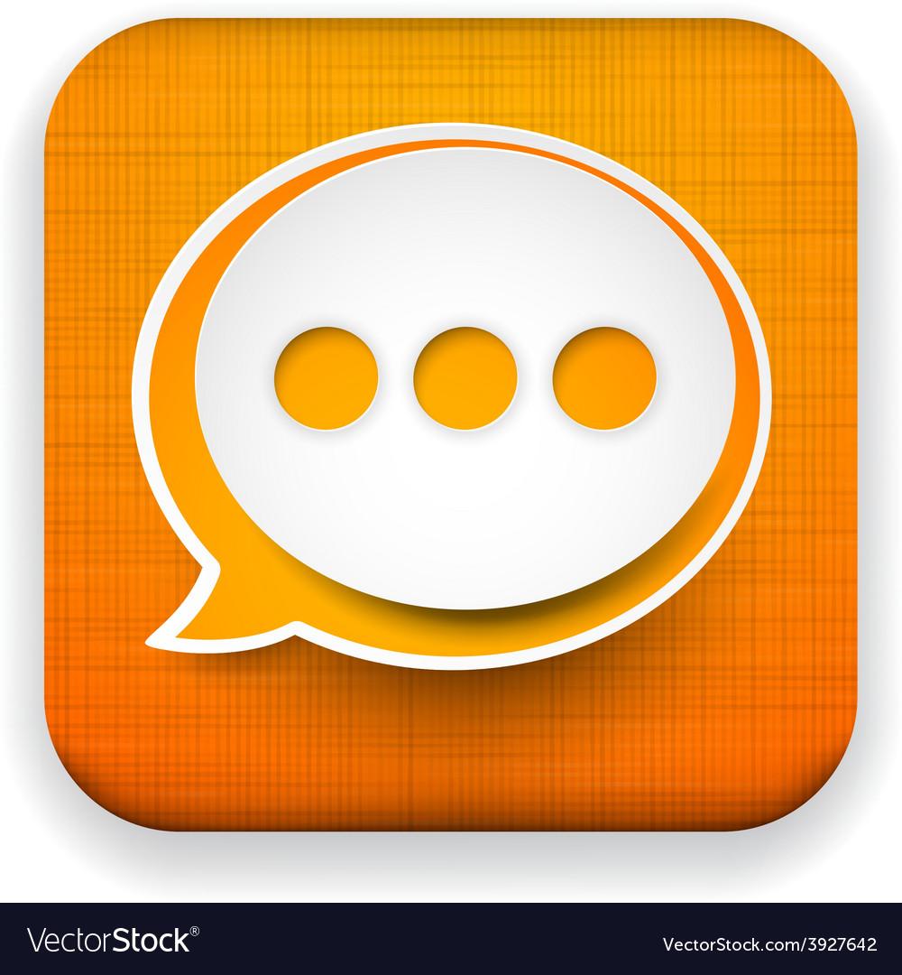 Web linen app speech bubble icon