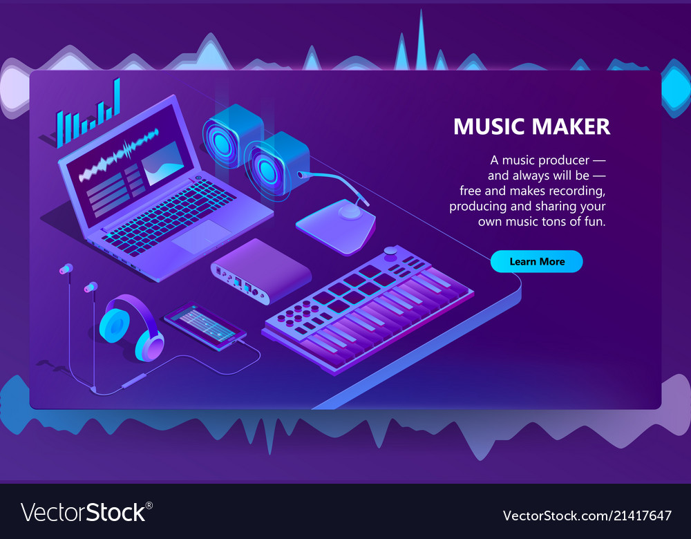 3d isometric site for music making