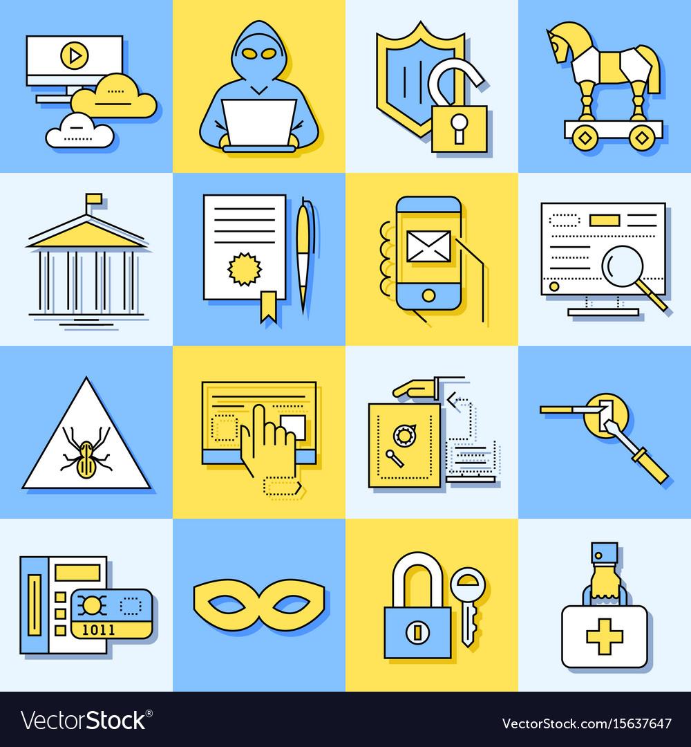 Digital blue internet security data