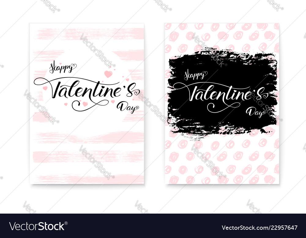 Happy valentines day set collection modern