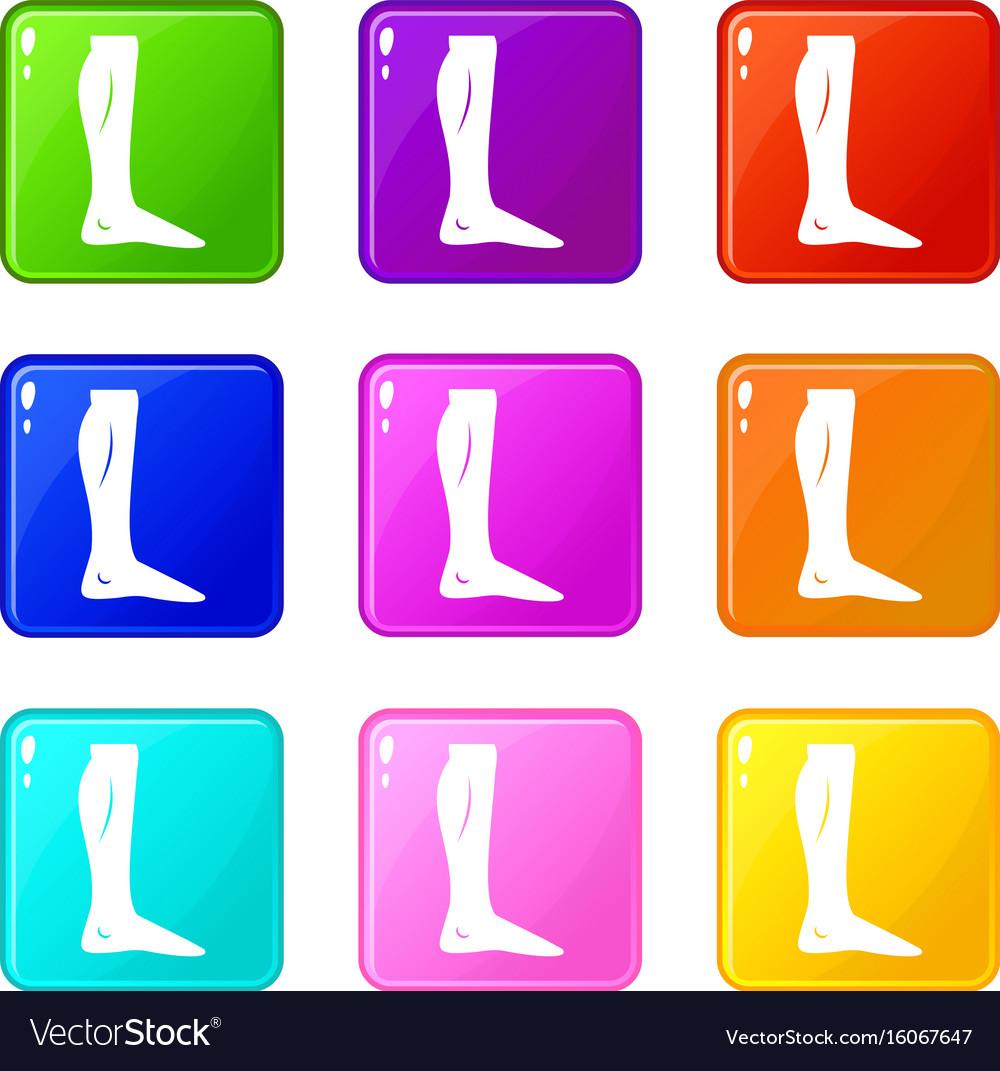 Human leg set 9 vector image