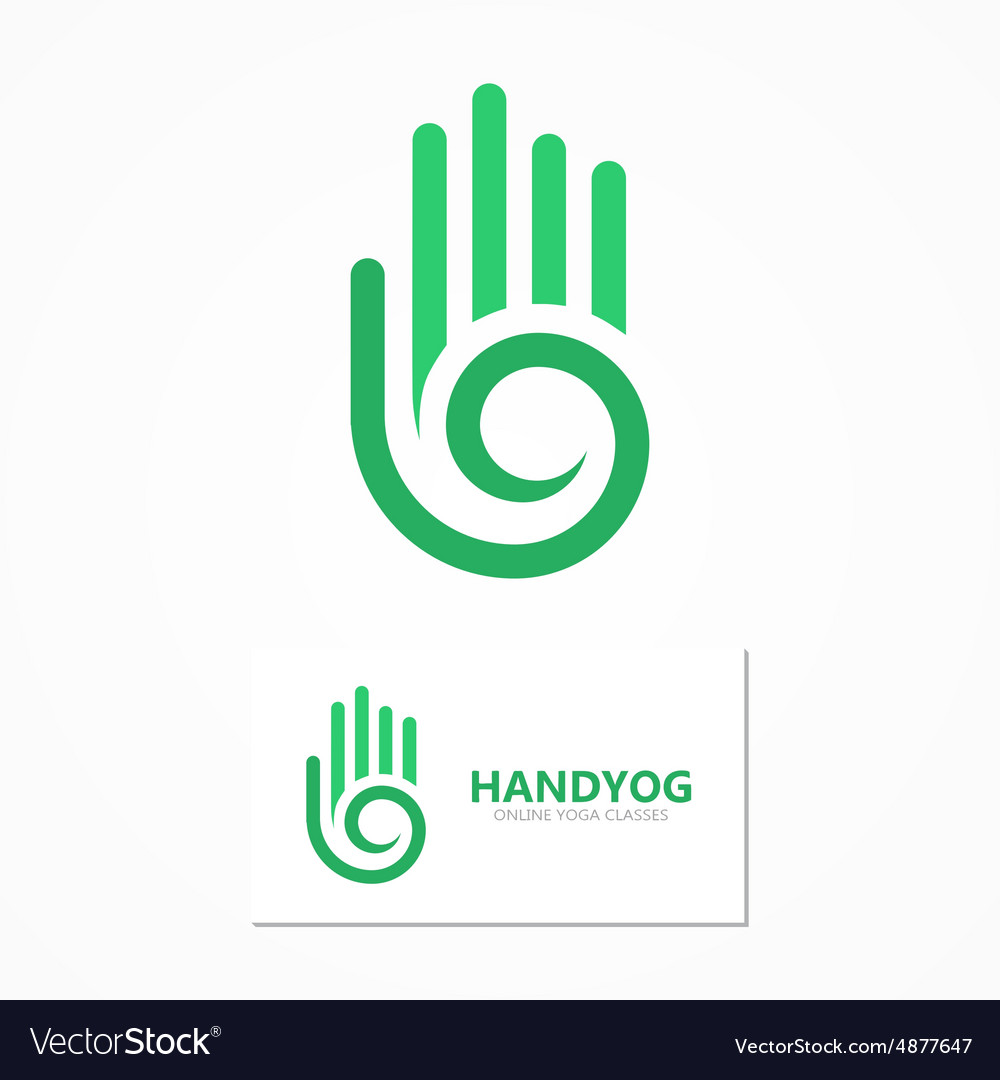 Logo Or Icon Hand With A Spiral Royalty Free Vector Image