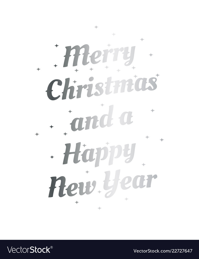 Merry christmas and a happy new year hand drawn