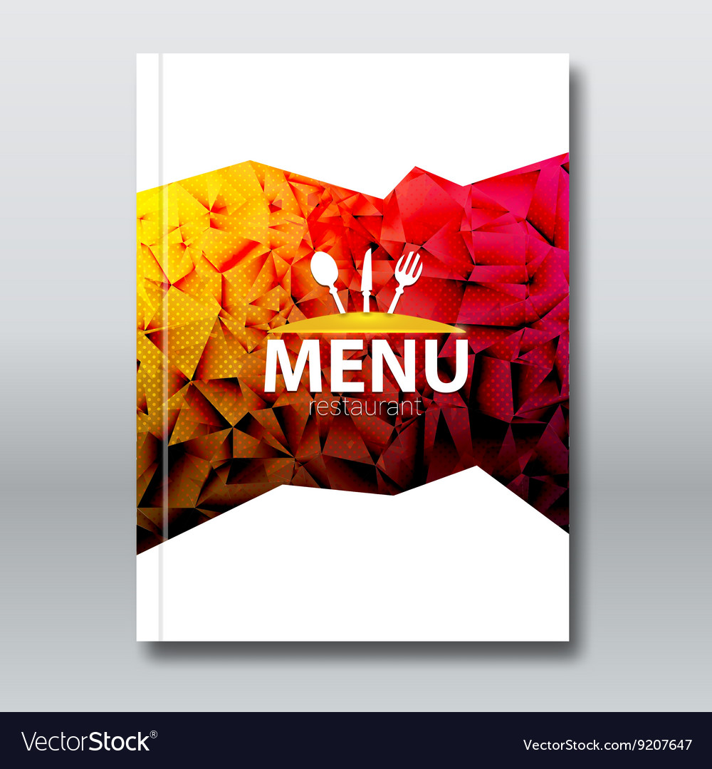 Restaurant Menu Card Broschure template Modern Vector Image