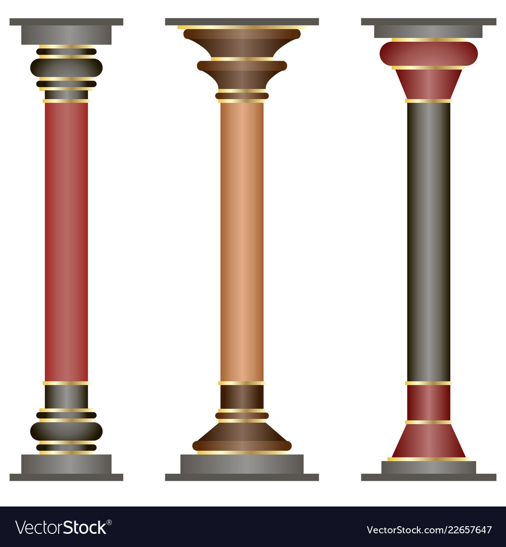 Set of columns in historic minoan style
