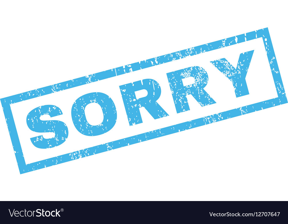 Sorry Rubber Stamp vector image