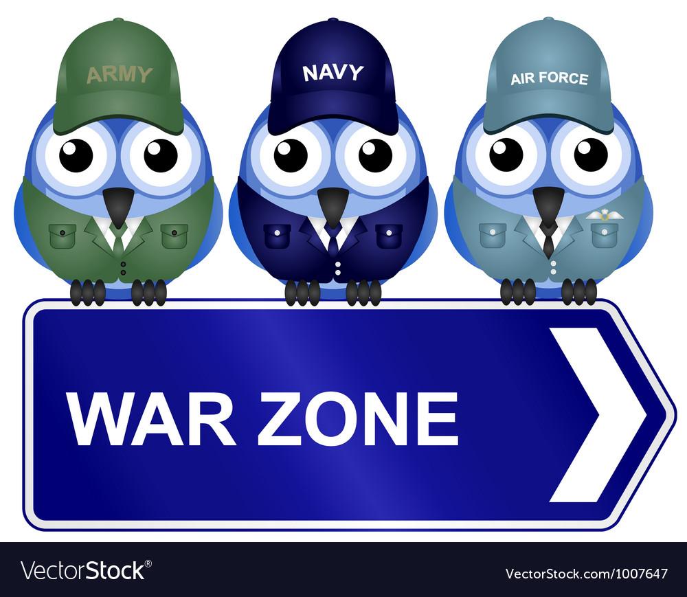 WAR ZONE SIGN vector image