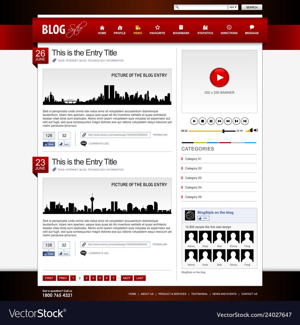 Web design website element template a design