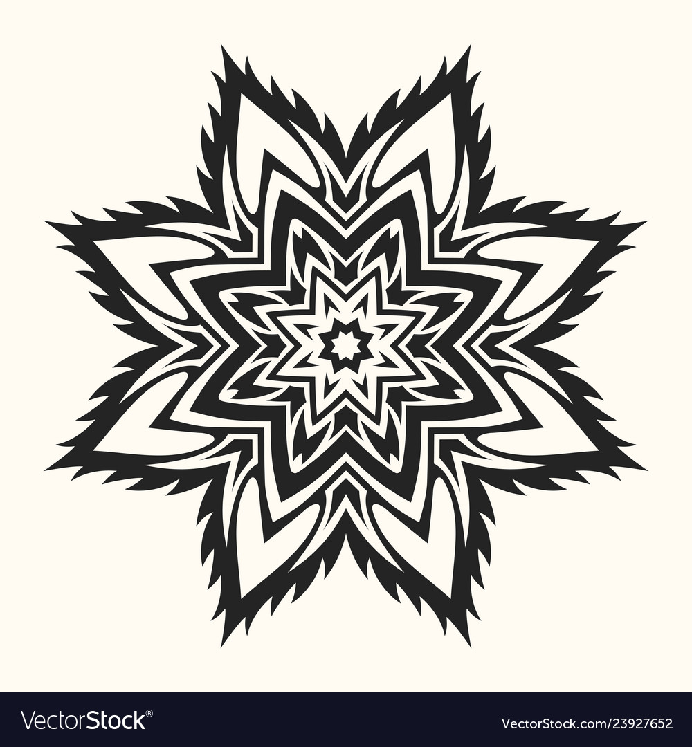 Abstract round symmetrical pattern