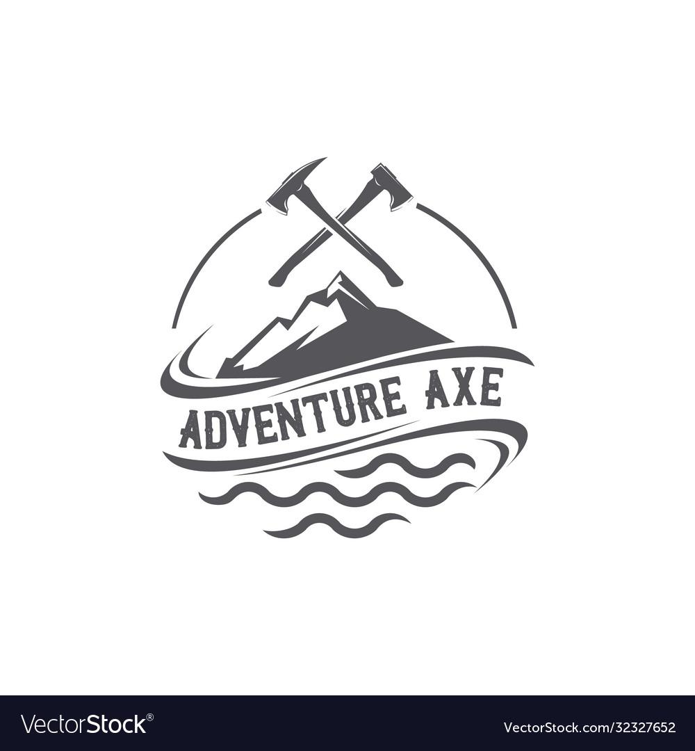 Adventure axe emblem logo