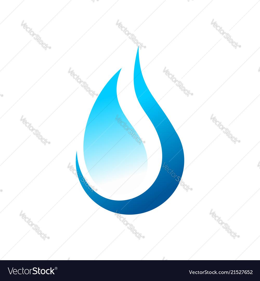 Eco water drop abstract symbol logo design