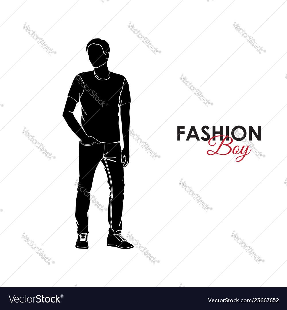 ea6417299e0 Fashionable guy fashion silhouette of a guy vector image jpg 1000x1080 Man  silhouette fashion