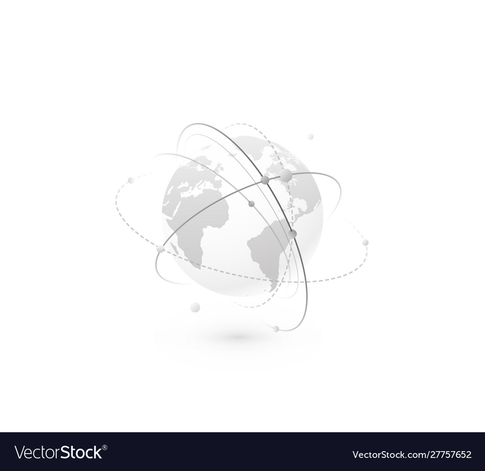 Global network world concept background
