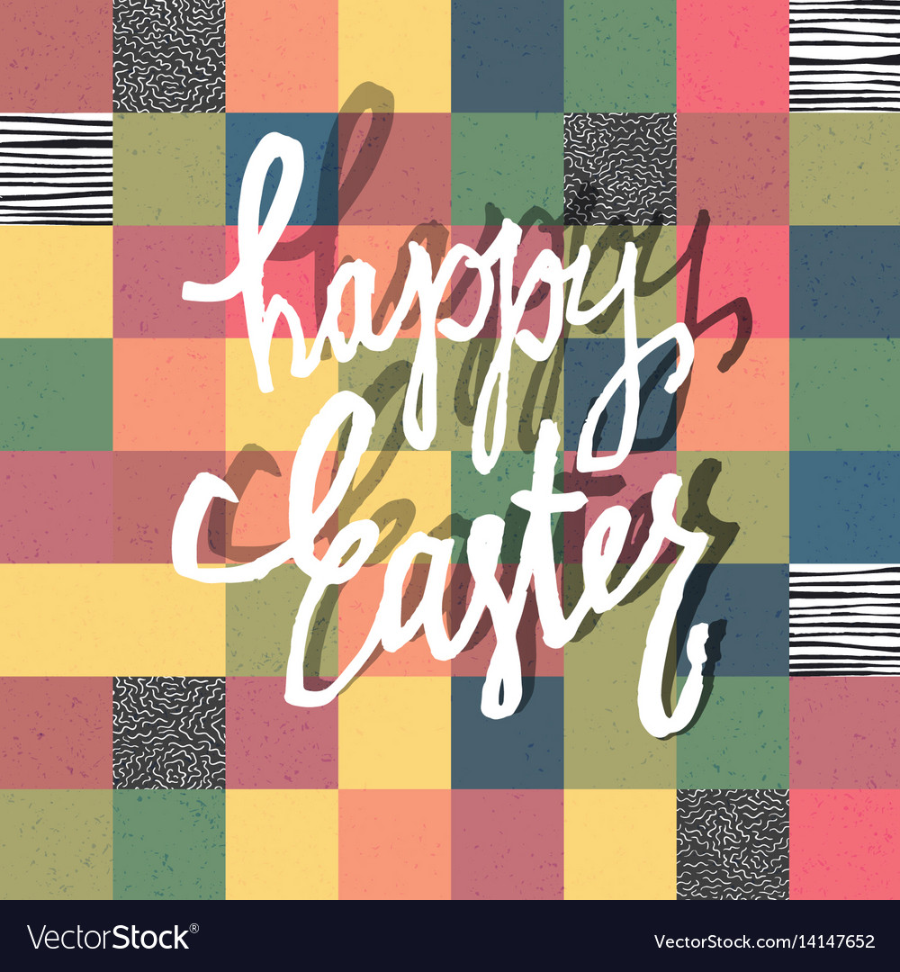 Happy easter greeting card mosaic seamless