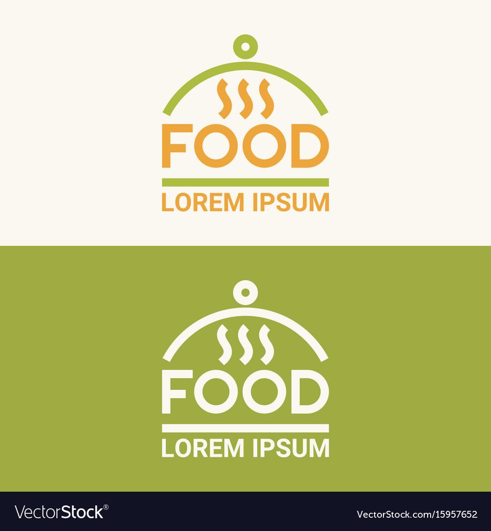 Modern minimalistic logo of food