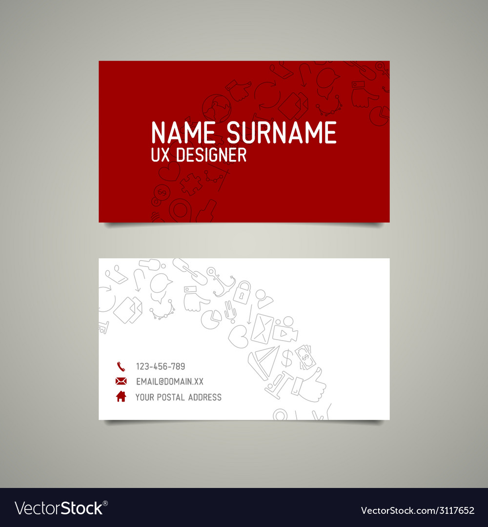 Modern simple business card template for ux vector image fbccfo Gallery