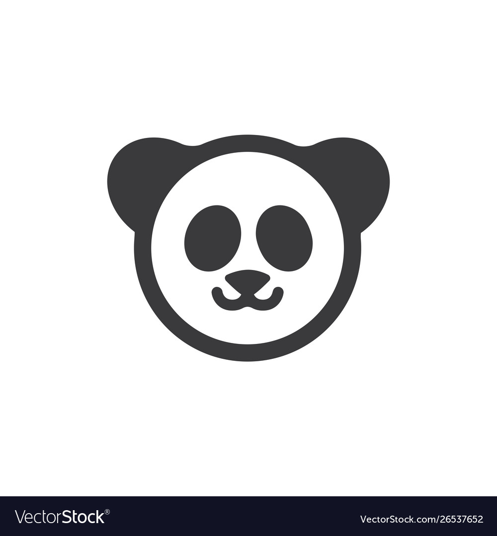panda bear icon royalty free vector image vectorstock vectorstock