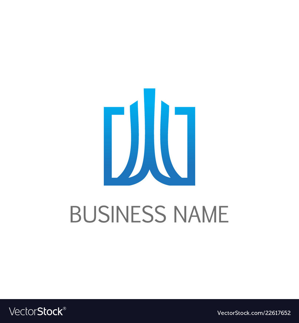 Square abstract building business logo