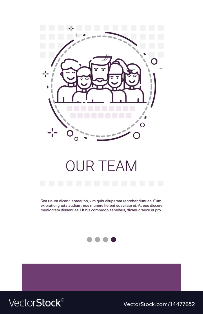 Team people work group management business vector image