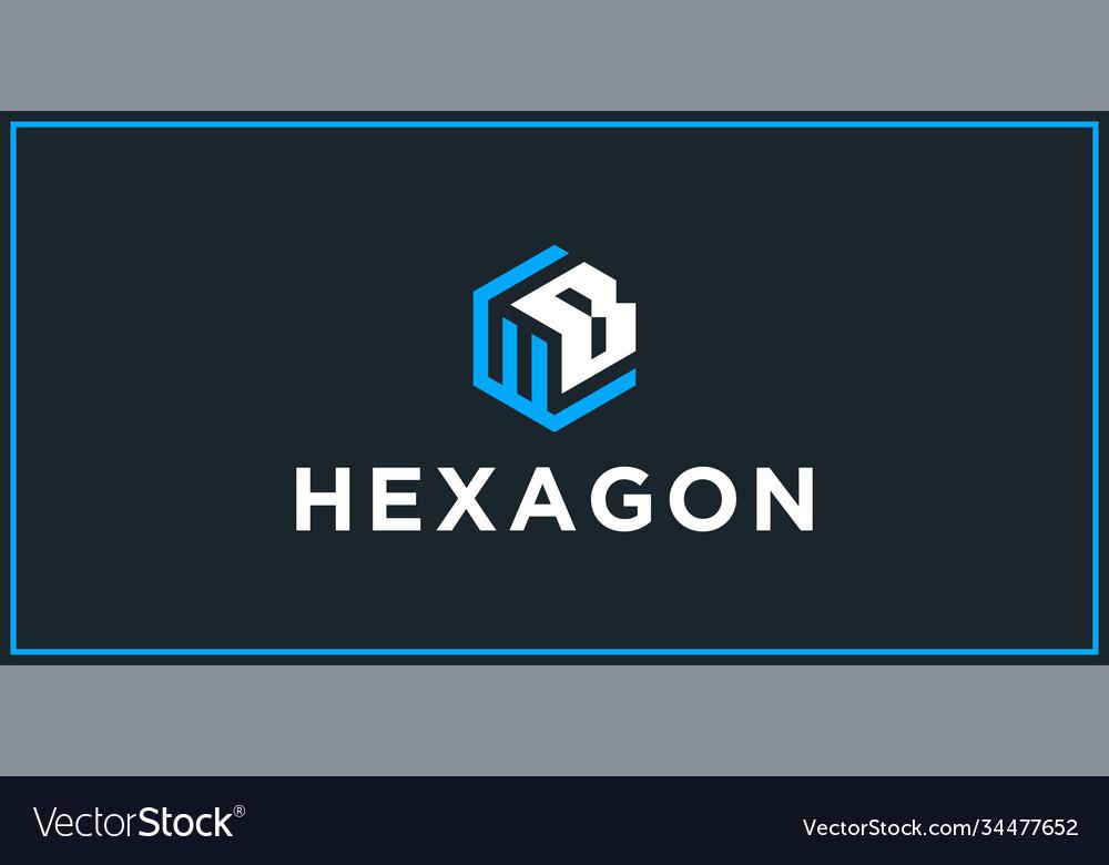 Wb hexagon logo design inspiration