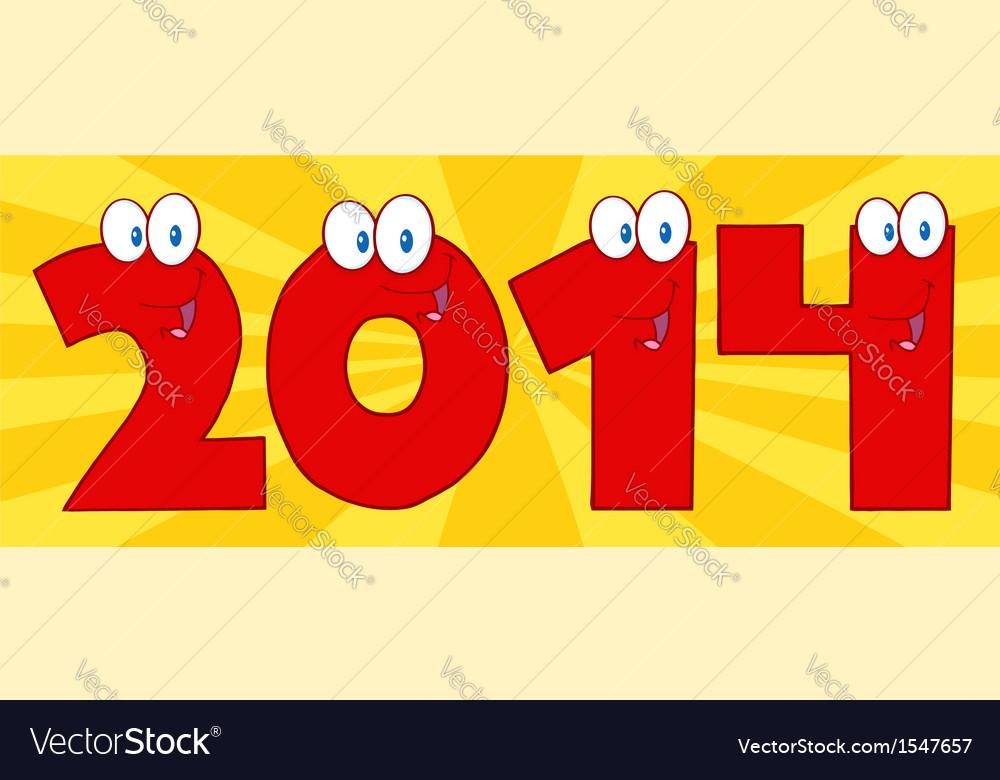 2014 cartoon card vector image