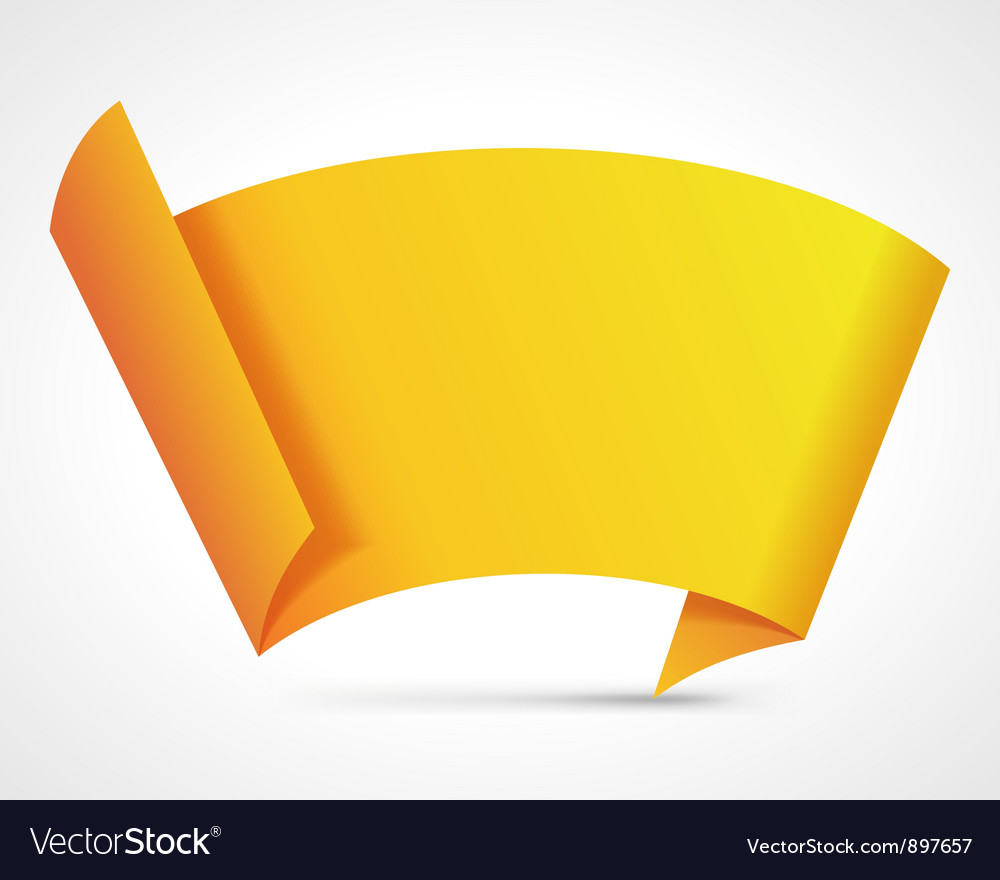 Abstract origami speech bubble