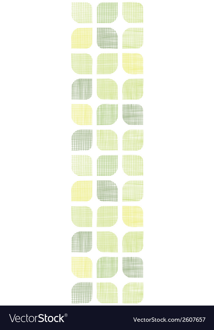 Abstract textile green rounded squares vertical vector image