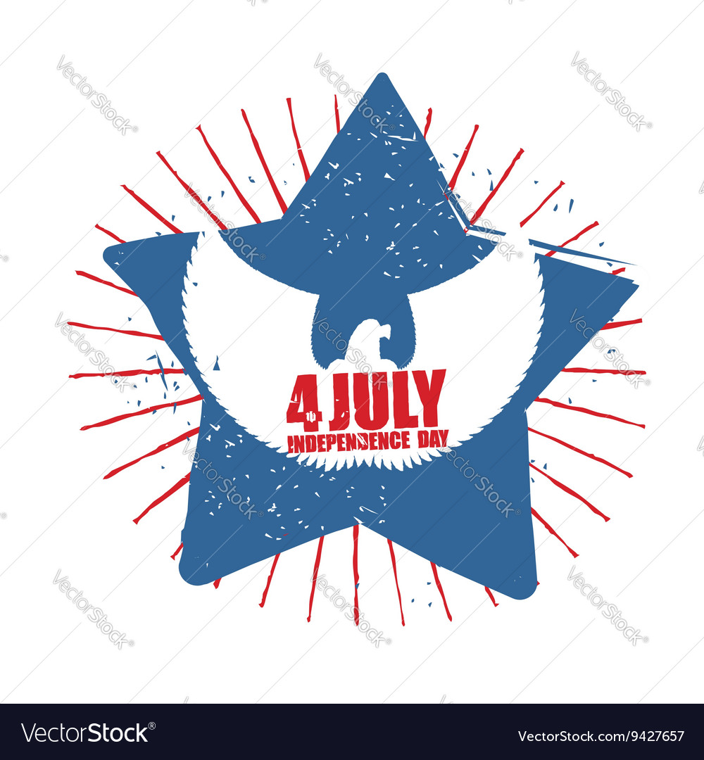 American Independence Day Symbol of countrys star