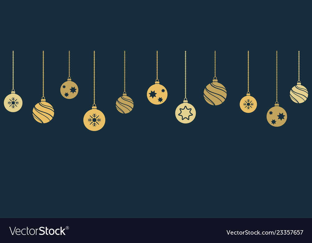 Christmas and new year banner with hanging
