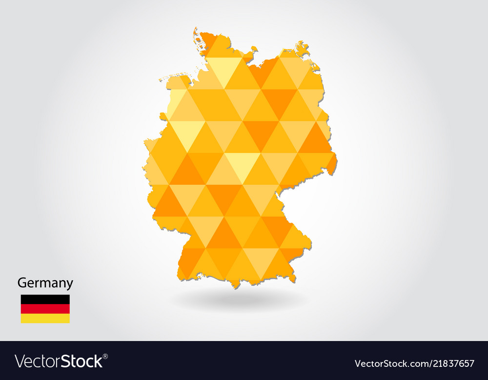Geometric polygonal style map of germany low poly