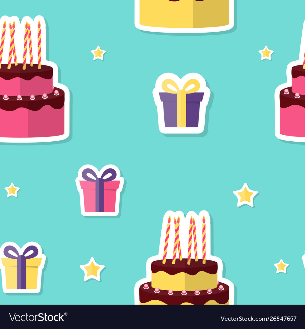 Happy birthday seamless pattern background