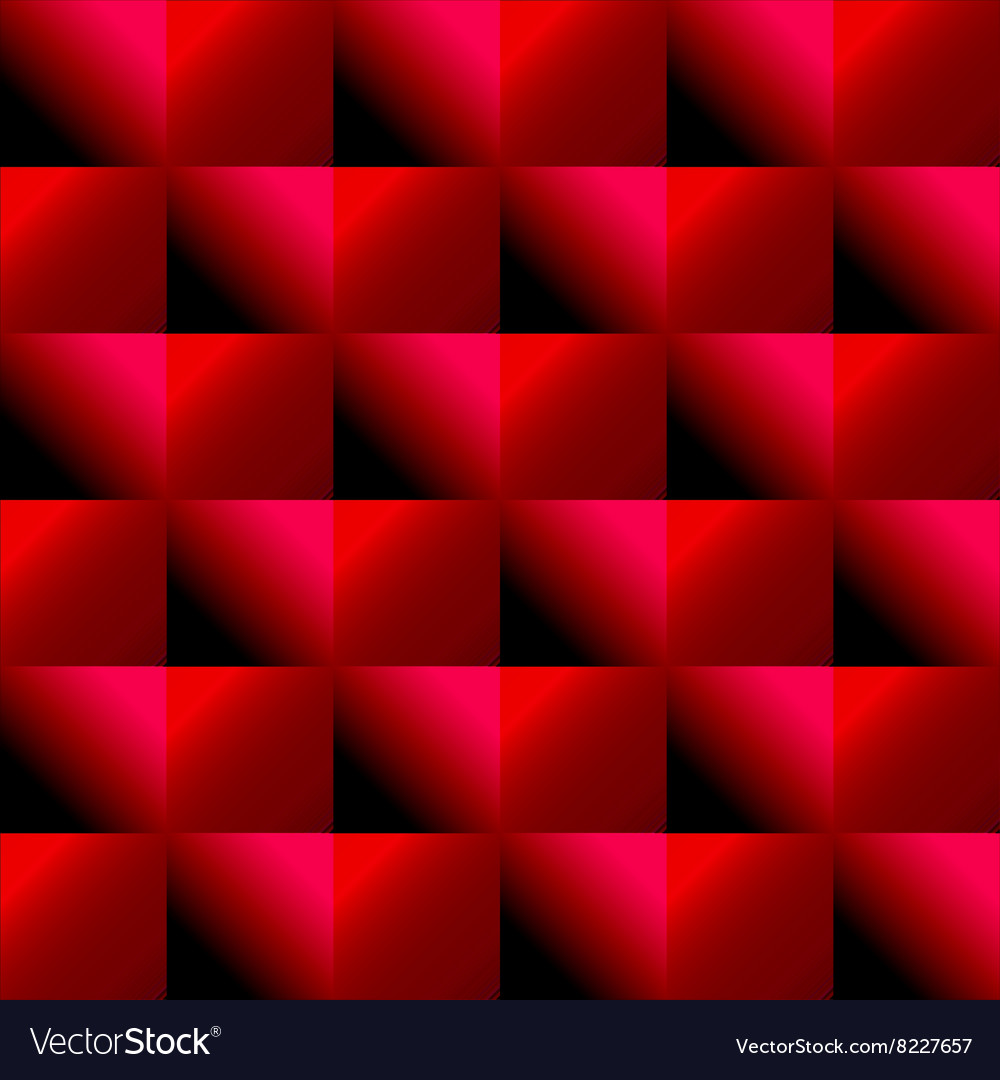 Red background with squares vector image
