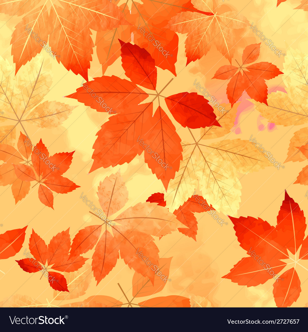 - Seamless Autumn Leaf Fall Pattern Royalty Free Vector Image