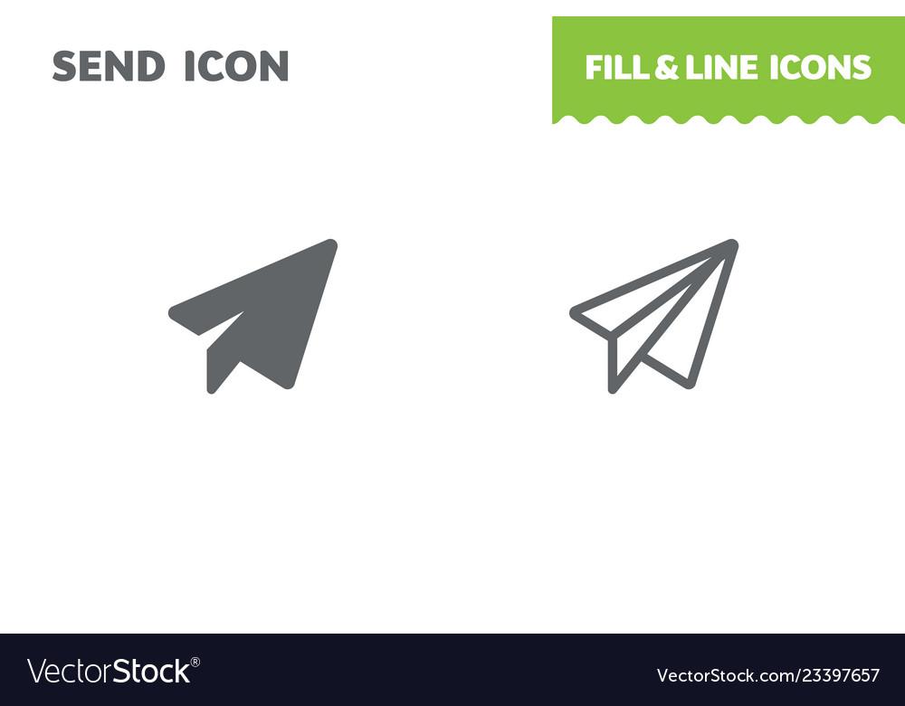 Send icon paper airplane
