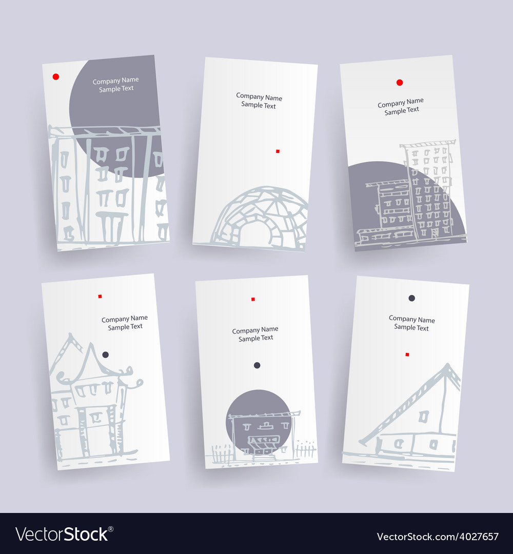 Set of architecture company identify cards vector image reheart Image collections