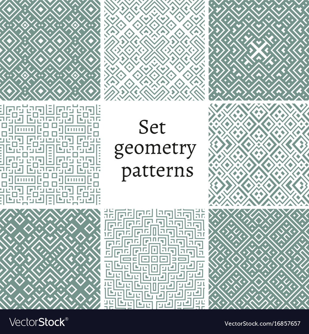 Set of ornamental patterns for backgrounds