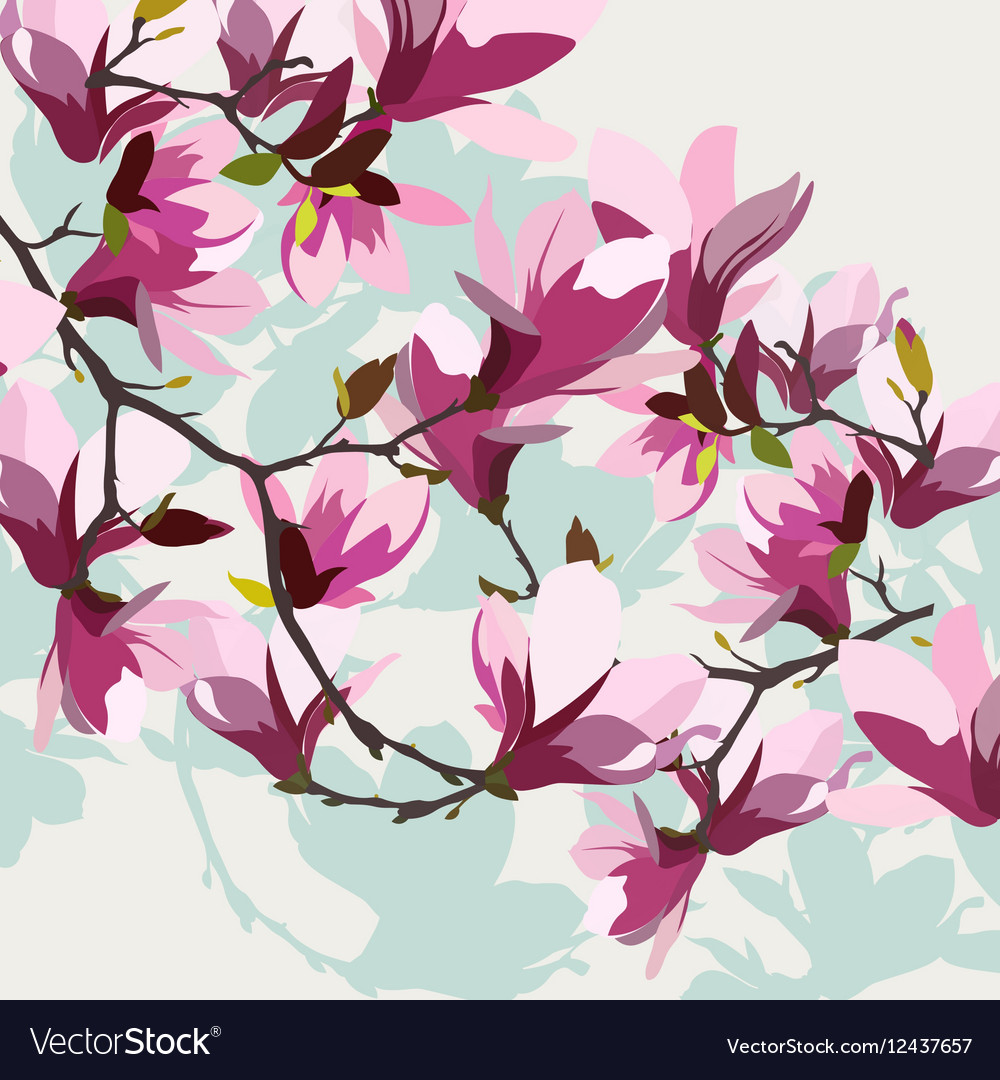 Vintage Spring Watercolor Background vector image