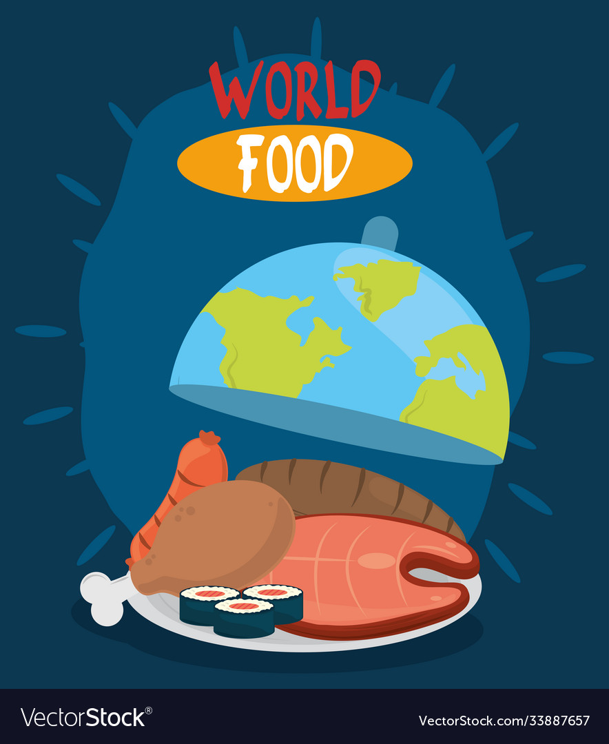 World food day different proteins and bread