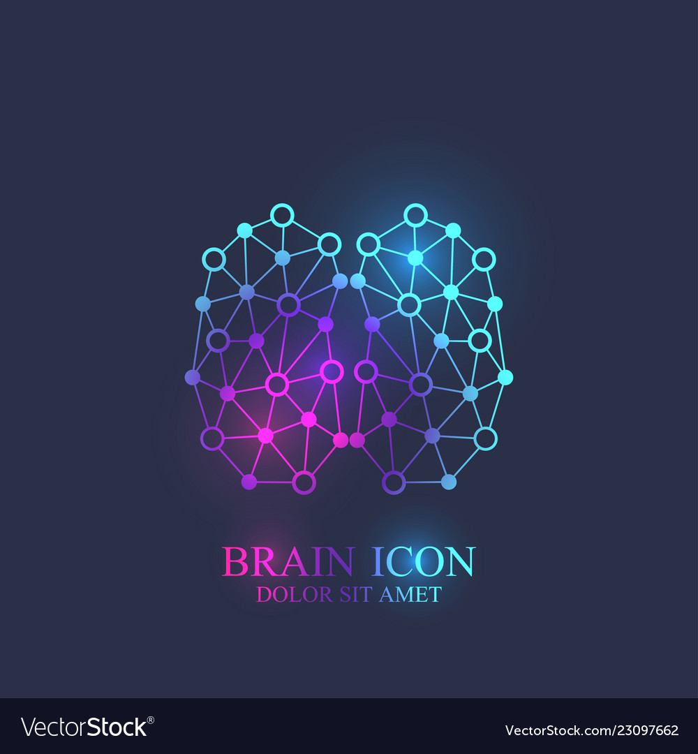 Creative brain logotype concept design abstract