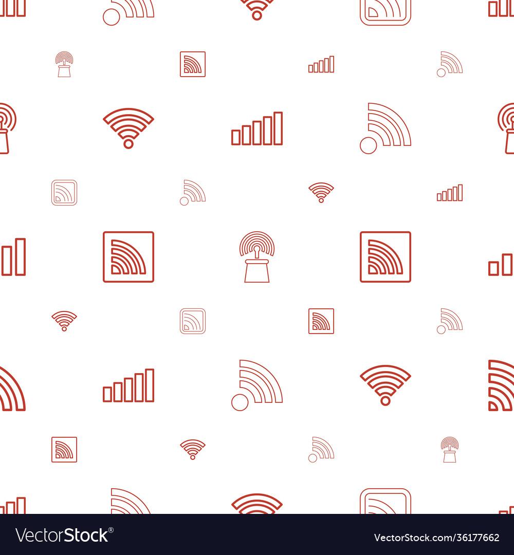 Fi icons pattern seamless white background