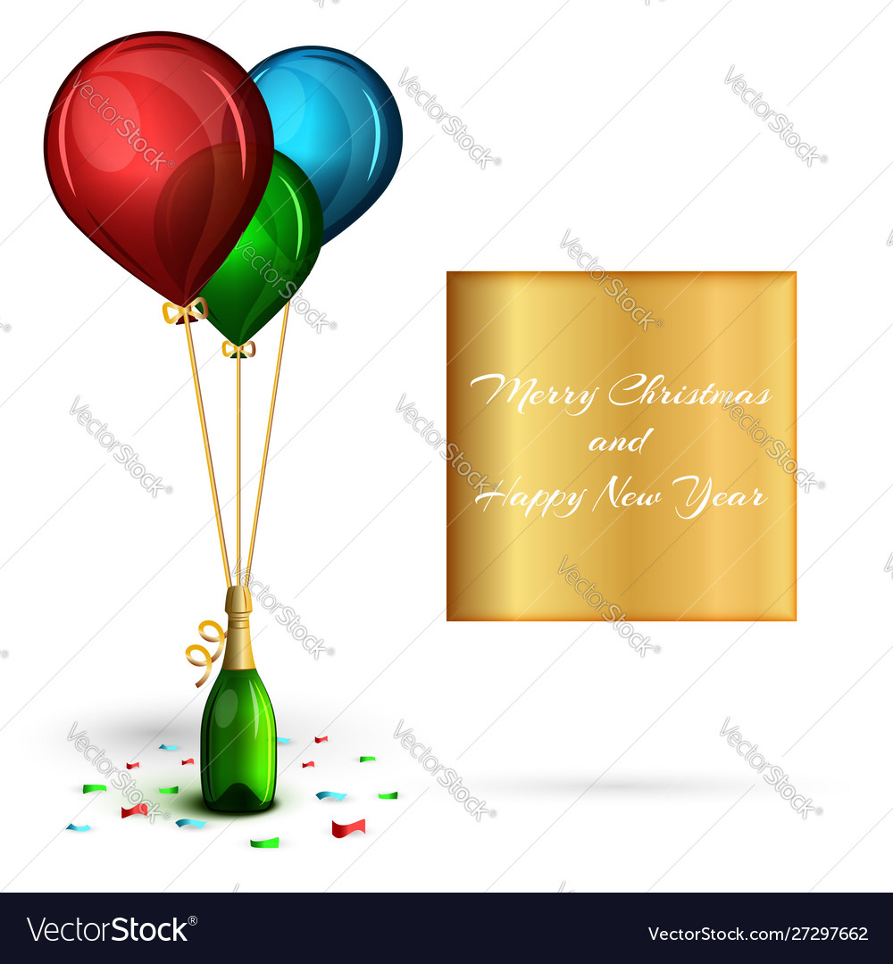 New year or christmas party banner template