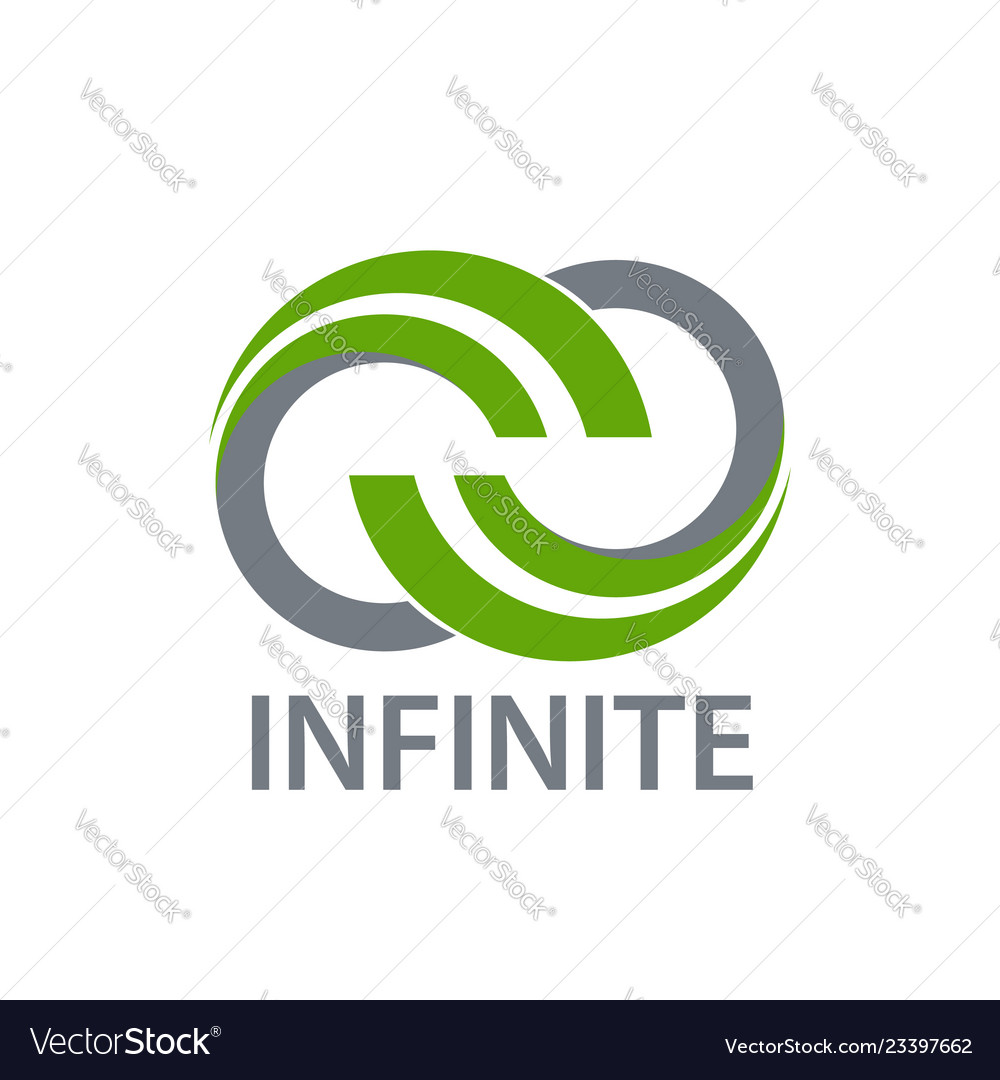 Science nature green infinity logo concept design