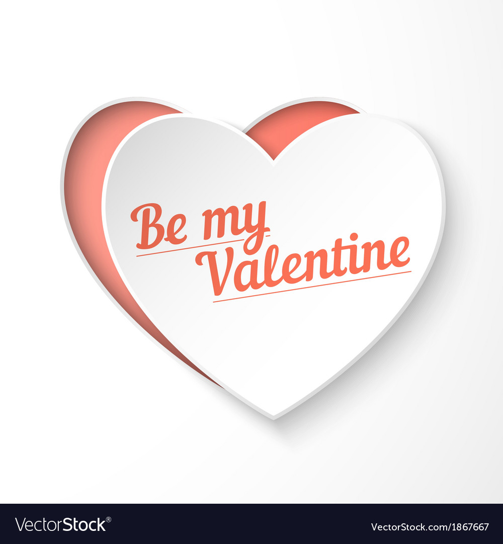 Be my valentine paper 3d heart holiday card